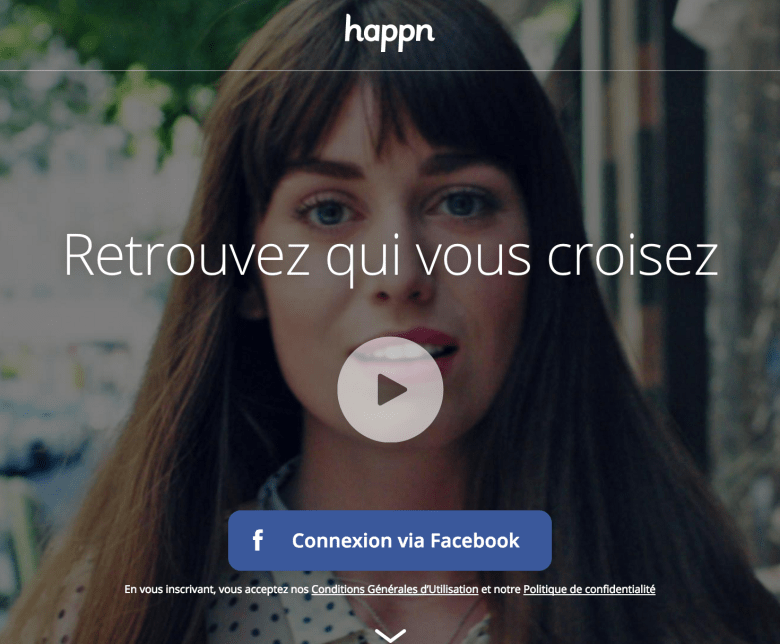 """Happn is the """"I was to shy to talk to that person app"""""""