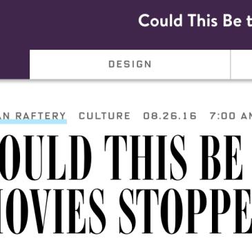 Watching independent film rather than mainstream cinema