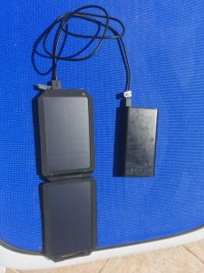 Solar charger and external battery