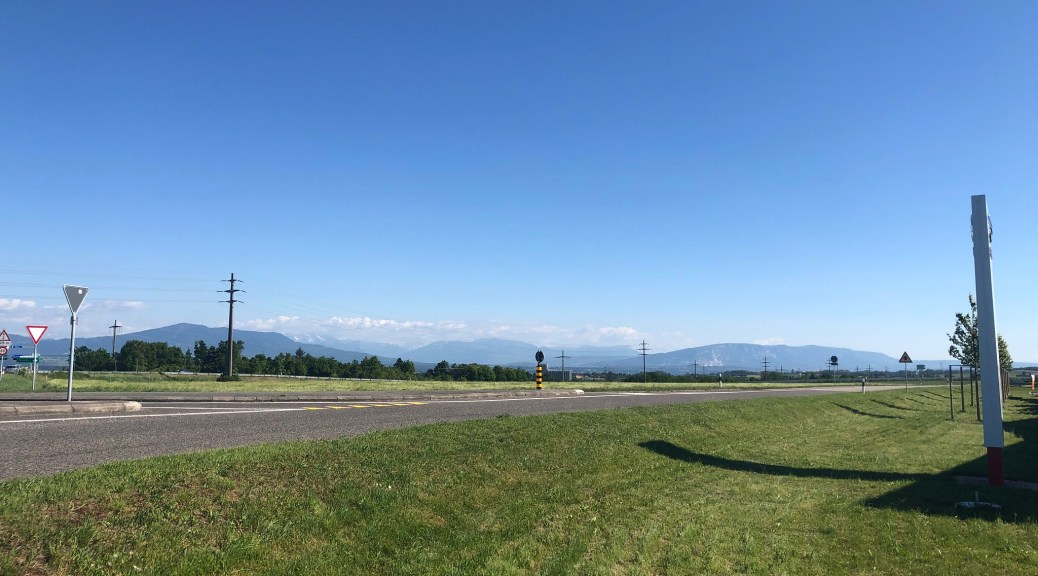 A view of the Alps and the Salève from near Signy Centre