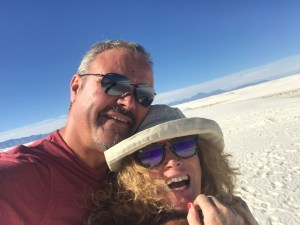 White Sands National Park and Happy