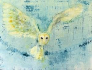 Barn Owl (Blue Yonder) - Rebecca Kinkead
