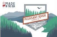This is the logo for the Plesant River lumb er sponsor.