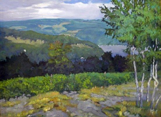 Carol Douglas Finger Lakes Vineyard Maine Art Scene Magazine Your