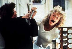 Alex's rage eventually escalates into violence.