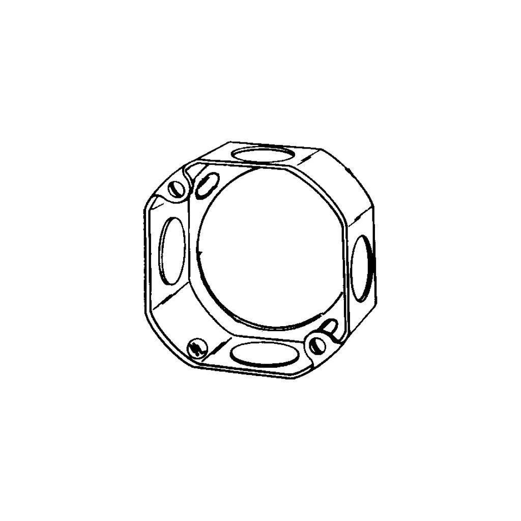 O Z Gedney 3 1 4 1 1 2 Deep Octagon Extension Ring At