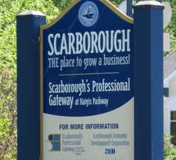 Sign for the Scarborough Professional Gateway