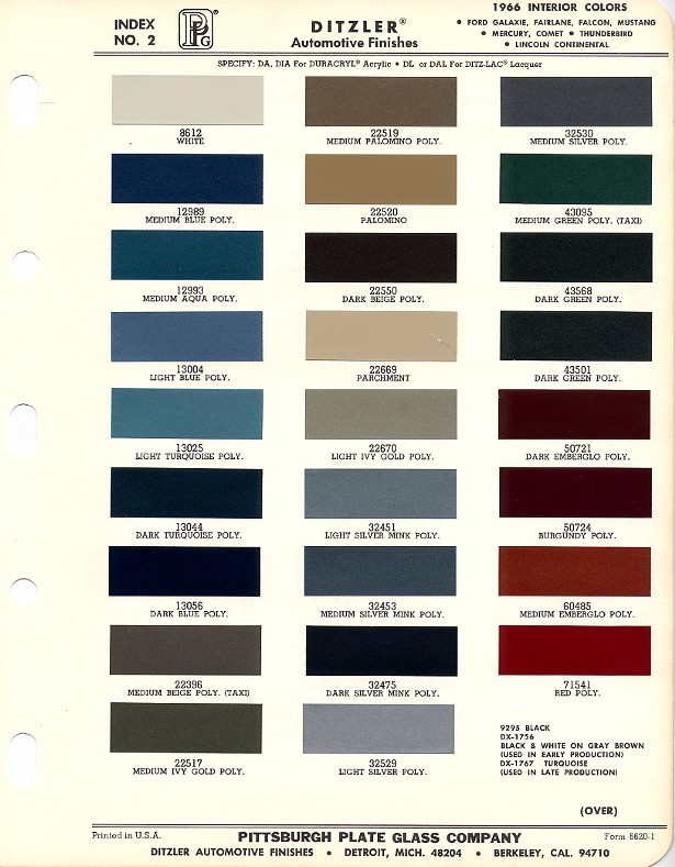 1965 Ford Mustang Interior Paint Codes Brokeasshome Com
