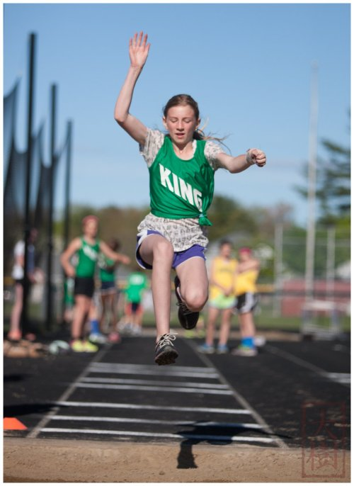 My Daughter in the long jump.