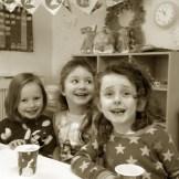 Ella May, Maja and Kate enjoying the 11am break.