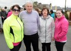 Mary T. Kelliher pictured with Jackie and Margaret O'Connor and Siobhán Lenihan at the start of the annual Good Friday Morning Hospice Walk in Castleisland. ©Photograph: John Reidy 18-4-2014