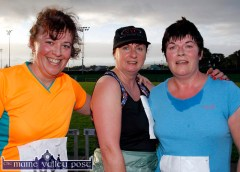 Siobhán McCrohan, Knocknagoshel (left) pictured with: Mary Daly and Marguerite Howard, Currow after their first Couch-to-5K Road Race / Fun Run at An Riocht AC in Castleisland on Friday evening. ©Photograph: John Reidy