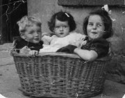 Ned Sheehy pictured with his sisters, Mary and Margaret in the award winning photograph taken by their father Danny in the 1940s