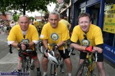 Good to be Back: Organisers: Denny Greaney (left) with Gerry Fagan and Tom McCarthy were glad to be home after the cycle/climb/cycle on The Longest Day / Bumbleance Challenge Fundraiser on Saturday evening. ©Photograph: John Reidy 21-6-2014