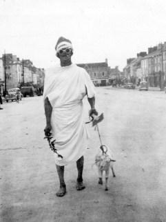 Thady O'Sullivan as Mahatma Gandhi in a Fancy Dress Parade in Castleisland. Photograph: Danny Sheehy 1-9-1940