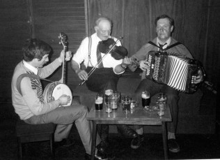 From the archives: Denis O'Connor on Banjo with the late Francie Davy O'Connor on Fiddle and Ned O'Connor on Accordion on this occasion but with the fiddle resting beside him. Denis O'Connor will be one of the musicians taking part in the first of the Handed Down series in Scart on Saturday night.