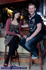 Brosna native, Michael Cronin and his girlfriend, Danya Hurley, Killarney pictured in Kate Pats's Bar during the third annual Paudie Fitzmaurice Memorial Tractor and Vintage Run at Brosna GAA Club grounds on Sunday morning. ©Photograph: John Reidy