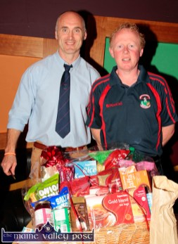 Organising committee members, Bill Horgan (left) and Colm Nolan pictured at the Garvey's SuperValu / Castleisland Rugby Club Bake-Off at the River Island Hotel. ©Photograph: John Reidy