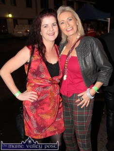 Rachel Gallagher (left) and Noreen Cronin enjoying the HercOileán After Party at An Riocht AC on Saturday night. ©Photograph: John Reidy
