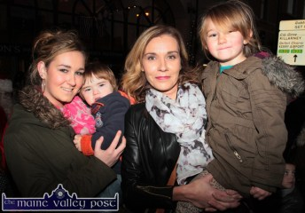 Members of the O'Connell family: Meaghan, Danny, Mary and Niamh were waiting for Santa at Lower Main Street on Friday evening. ©Photograph: John Reidy