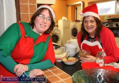 Washing up: Martina O'Donoghue (left) and Noreen Reidy were among the caterers at Sunday's Cordal Senior Citizens' Christmas Party at the Christmas Marquee in Cordal. ©Photograph: John Reidy