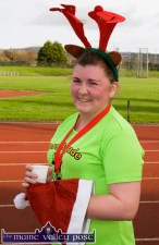 Michelle Brosnan from Moyvane brought a choice of festive head-gear for Sunday's 5K. ©Photograph: John Reidy 8-12-2013