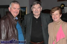 Neighbours and friends of Divanes: John Keane with Jerry and Doris Coffey at the launch of the new generation Passat Variant at S. Divane & Sons in Castleisland on Friday night. ©Photograph: John Reidy