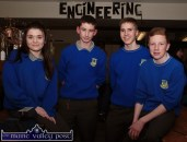 Castleisland Community College students: Saoirse Casey, Kieran Ward, Pádraig O'Connell and Brian Lonergan pictured in the engineering room at the college open night. ©Photograph: John Reidy