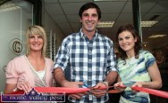 John Galvin officially opens Galvin Optometrists with his cousin and proprietor, Maria Galvin (right) and her assistant, Sinead Cahill in 2011. ©Photograph: John Reidy 6-8-2011