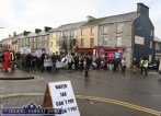 Marchers gathering for the Right2Water protest march in Castleisland this afternoon. ©Photograph: John Reidy