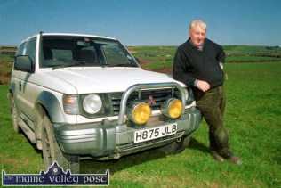 Landowner and main contractor, Richie Walsh pictured on site before work began on the new Castleisland golf course at Tulligubeen in March 2000. ©Photograph: John Reidy 29-3-2000