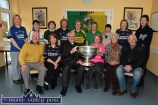 Guests, management and staff pictured at Castleisland Day Care Centre during the visit of the Sam Maguire Cup on Wednesday. Included are, seated: Donal Nelligan, Marie Cronin, Monsignor Dan O'Riordan, Marcelle Finn, nurse/manager; Monica Prendiville and Charlie Nelligan. back row from left: Helen Greensmyth, Mag Lenihan, Sheila McGuire, Rita McCarthy, Mary O'Sullivan, Eileen Cronin, Noreen O'Sullivan, Eileen Murphy and Noreen Geaney. ©Photograph: John Reidy