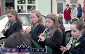 Musicians from the Gaelscoil Aogháin band taking part in the 1997 parade. ©Photograph: John Reidy 17-3-1997
