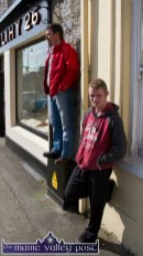 All vantage points were availed of at Tuesday's St. Patrick's Day Parade in Castleisland. ©Photograph: John Reidy