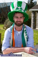Seán Daly was well rigged out for the St. Patrick's Day Parade in Castleisland. ©Photograph: john Reidy