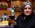 Joan Daly from Tooreengarrive Glen was at the opening of Cordal's first licensed premises, Hughes Bar on Friday evening. ©Photograph: John Reidy 11-3-2005