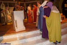 The women console each other enroute to the crucifixion at the Church of Saints Stephen & John during the Good Friday Dramatisation of the Passion and Death of Christ by the Tralee based St. John's Parish Actors and Choir. ©Photograph: John Reidy 3-4-2015