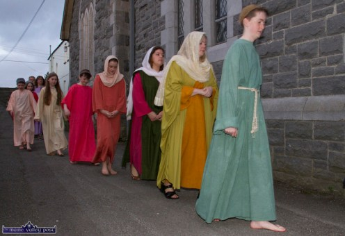 Support cast members at the at the Church of Saints Stephen & John for the Good Friday Dramatisation of the Passion and Death of Christ by the Tralee based St. John's Parish Actors and Choir. ©Photograph: John Reidy 3-4-2015