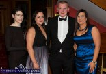 At the Kerry County Hunt Ball at the River Island Hotel in Castleisland were: Finola Coffey (left) and Amanda McSweeney, Killarney with Timmy O'Connor and Kelly Murray, Scartaglin. ©Photograph: John Reidy
