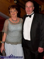 Breda and John Kerin, Scartaglin pictured at the Kerry County Hunt Ball at the River Island Hotel. ©Photograph: John Reidy