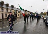 Tralee piper, Denis O'Reilly leading Friday evening's commemoration with Colour Party leader, Timmy O'Connor to the War of Independence monument at Castle View. ©Photograph: John Reidy 1-5-2015