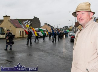 Thomas Harrington from Causeway was in Castleisland on Friday evening for the commemoration at the War of Independence monument at Castle View. ©Photograph: John Reidy 1-5-2015