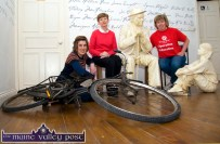 The Writing on the Wall: Writers' Week organisers: Máire Logue (left) with: Eilish Wren and Rose Wall preparing for this week's big, annual event in Listowell at their Seanchaí Centre offices. ©Photograph: John Reidy 28-5-2013