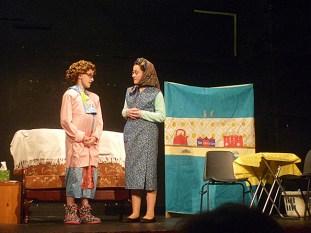 Mrs Brown (aka Lisa Flynn) and Winnie (aka Aoife Walsh)