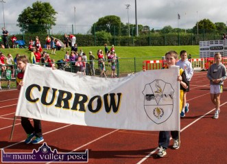 David and Adam Healy were the Currow Community Games flag bearers at the Denny Kerry Community Games Athletics Finals at An Riocht AC, Castleisland on Saturday morning. ©Photograph: John Reidy