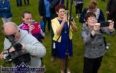 Photographers galore as Aogán Ó Fearghail, Uachtarán Chumann Lúthchleas Gael prepares to perform the re-open ceremony at Cordal GAA Club grounds on Sunday afternoon. ©Photograph: John Reidy