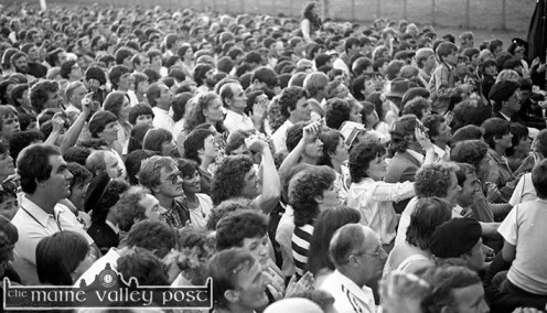 A sea of faces from the estimated 13,000 people who went to James Last and his Orchestra in Austin Stack Park during the 1983 Rose of Tralee Festival. ©Photograph: John Reidy 28-8-1983
