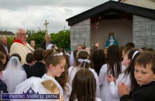 Monsignor Dan O'Riordan blessing the newly erected grotto during the visit of the Corpus Christi Procession at Cahereens West on Saturday evening. ©Photograph: John Reidy