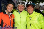 Suzanne O'Sullivan (left) pictured with Sheila McCarthy and Caroline Martin at the start of the second annual Longest Day Cycle/Climb/Cycle Challenge in Castleisland on Saturday morning. ©Photograph: John Reidy