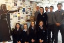 Students front from left: Mary O'Connor, Eimear Horgan, Molly O'Callaghan and Ellen Sheehan. back row: Luke Fitzgerald, Rachael O'Connor, Paddy Flynn, Christopher Thomas and Jack Daly.